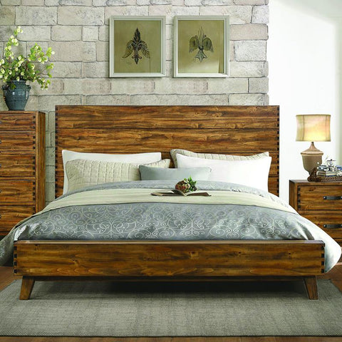 Homelegance Sorrel Platform Bed in Heavily Burnished