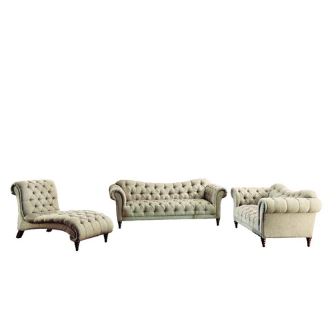 Homelegance St. Claire 3 Piece Living Room Set in Brown Fabric