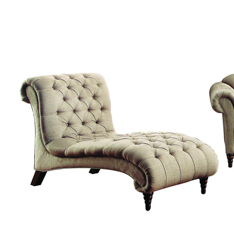 Homelegance St. Claire Chaise in Brown Fabric
