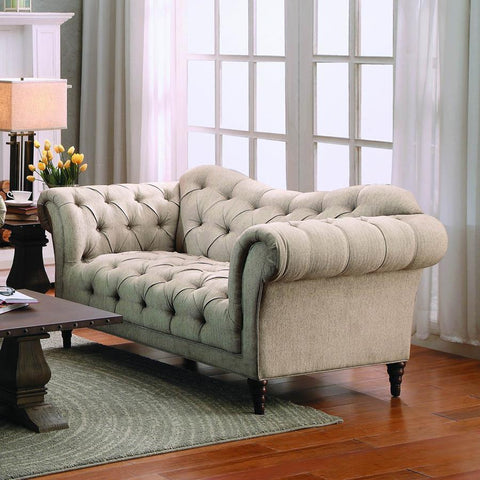 Homelegance St. Claire Loveseat in Brown Fabric