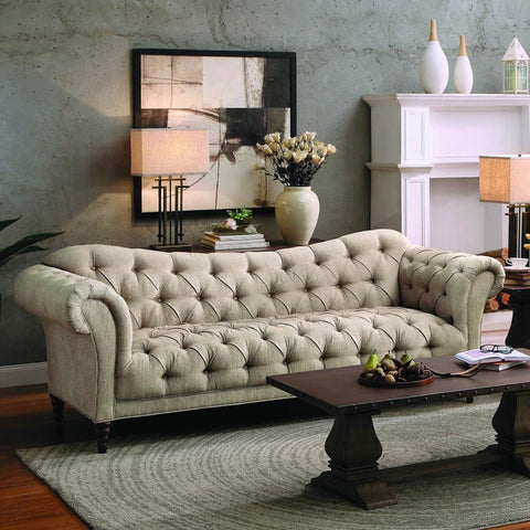 Homelegance St. Claire Sofa in Brown Fabric