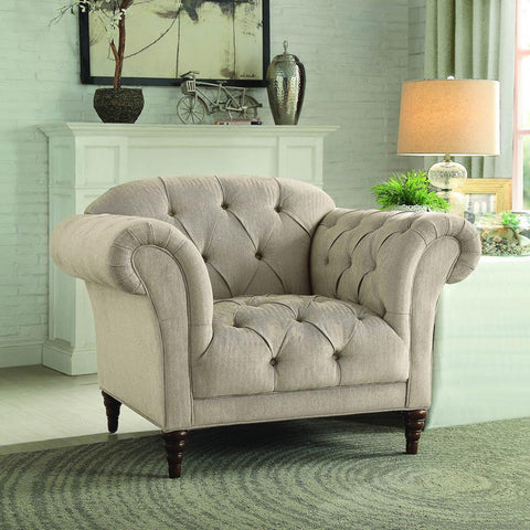 Homelegance St. Claire Upholstered Chair in Brown Fabric
