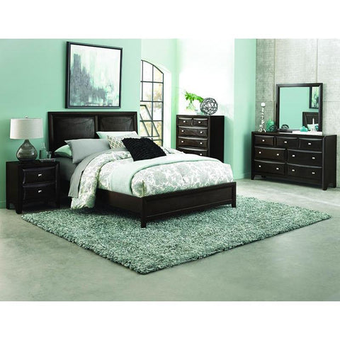 Homelegance Summerlin 4 Piece Platform Bedroom Set in Espresso