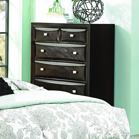 Homelegance Summerlin 6 Drawer Chest in Espresso