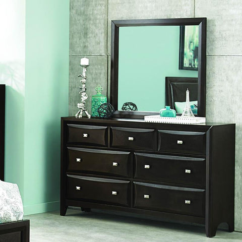 Homelegance Summerlin 7 Drawer Dresser & Mirror in Espresso