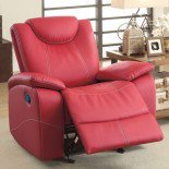 Homelegance Talbot Glider Reclining Chair in Red Leather