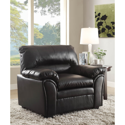 Homelegance Talon Chair in Black Leather