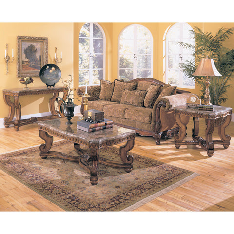 Homelegance Tarantula 3 Piece Coffee Table Set w/ Marble Top