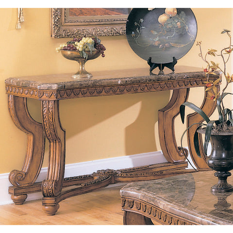 Homelegance Tarantula Rectangular Sofa Table w/ Marble Top