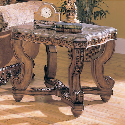 Homelegance Tarantula Square End Table w/ Marble Top
