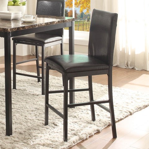 Homelegance Tempe Counter Height Chair in Dark Brown Bi-Cast Vinyl