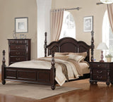Homelegance Townsford 2 Piece Poster Bedroom Set in Dark Cherry