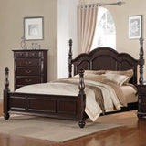 Homelegance Townsford 5 Piece Poster Bedroom Set in Dark Cherry