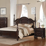 Homelegance Townsford Poster Bed in Dark Cherry
