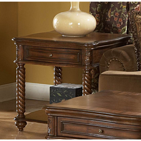Homelegance Trammel Square End Table w/ Working Drawer