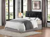 Homelegance Twin Headboard Only In Black Bi-Cast Vinyl