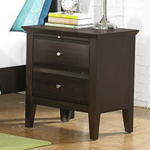 Homelegance Verano 2 Drawer Nightstand in Espresso