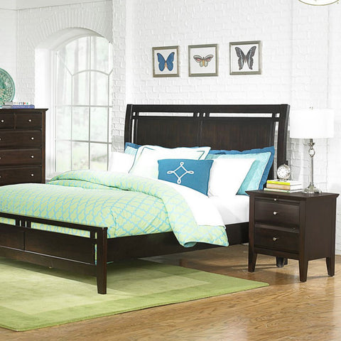 Homelegance Verano 2 Piece Platform Bedroom Set in Espresso
