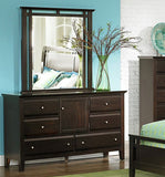 Homelegance Verano 6 Drawer Dresser w/ Door in Espresso