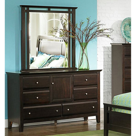 Homelegance Verano 6 Drawer Dresser w/ Mirror in Espresso
