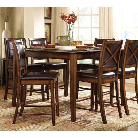 Homelegance Verona Counter Height Table in Dark Oak