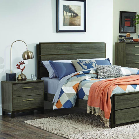 Homelegance Vestavia 2 Piece Platform Bedroom Set in Grey