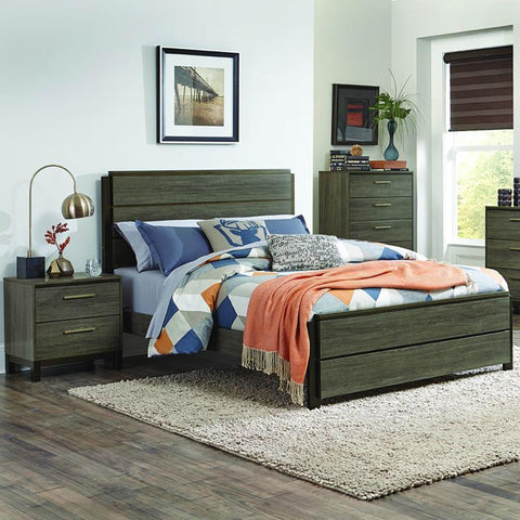 Homelegance Vestavia 3 Piece Platform Bedroom Set in Grey