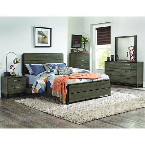 Homelegance Vestavia 4 Piece Platform Bedroom Set in Grey