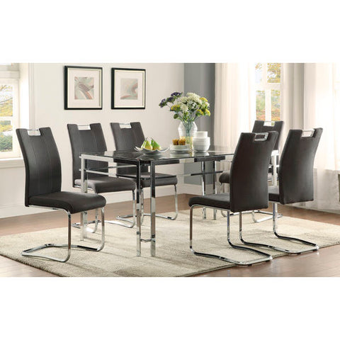 Homelegance Watt 7Pc Dining Set In Dark Grey