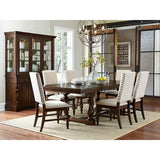 Homelegance Yates Dining Table In Burnished Dark Oak