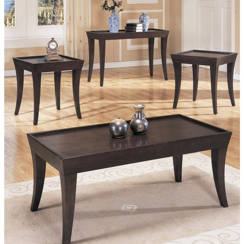 Homelegance Zen 3 Piece Coffee Table Set in Espresso
