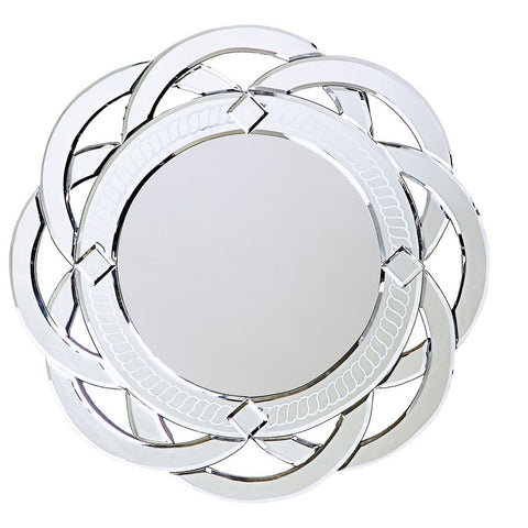 Howard Elliott 11008 Galaxy Contemporary Venetian Style Round Twist Mirror