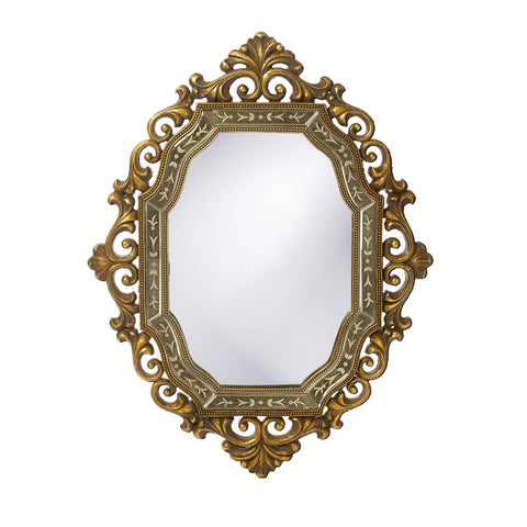 Howard Elliott 11059 Ariana Antique Pewter & Gold Mirror w/ Smoked Antique Mirror Inset