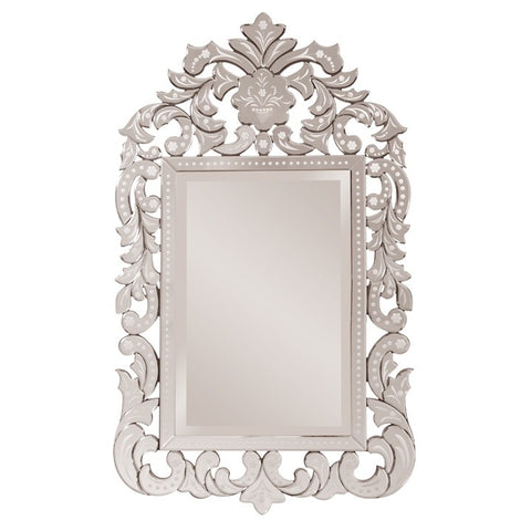 Howard Elliott 11106 Regina Etched Mirrored Venetian Style Frame Mirror