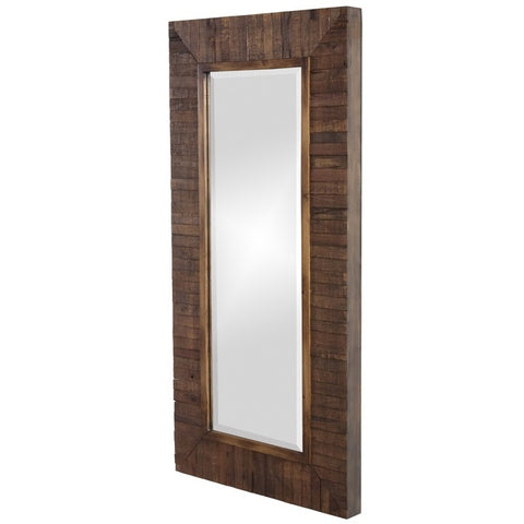 Howard Elliott 14234 Timberlane Faux Walnut Stained Wood Planks Mirror
