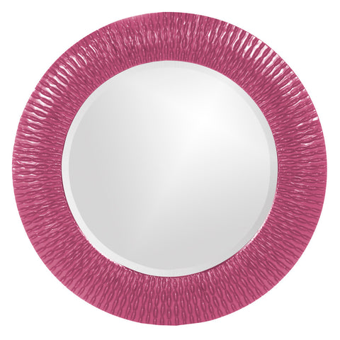 Howard Elliott 21143HP Bergman Hot Pink Small Round Mirror