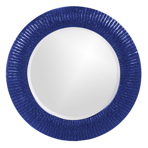 Howard Elliott 21143RB Bergman Royal Blue Small Round Mirror