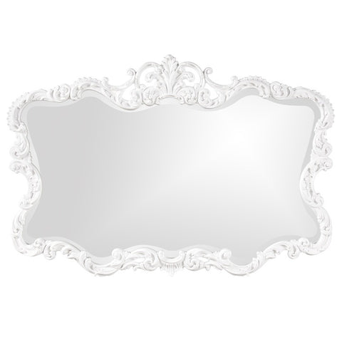 Howard Elliott 21183 Talida Glossy White Lacquer Mirror