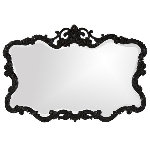 Howard Elliott 21184 Talida Glossy Black Lacquer Mirror