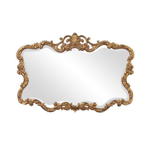 Howard Elliott 21188 Talida Gold Leaf Mirror w/ Black Patina Finish
