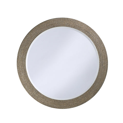 Howard Elliott 2133 Lancelot Silver Leaf Mirror w/ Pearl Iridescent Sheen
