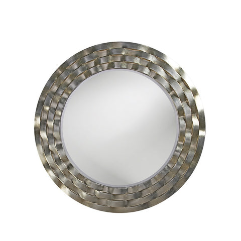 Howard Elliott 2140 Cartier Bright Silver Leaf Mirror w/ Brass Accents