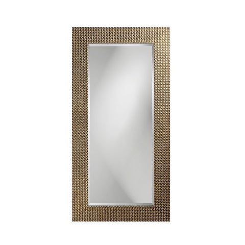 Howard Elliott 2142 Lancelot Silver Leaf Mirror w/ Pearl Iridescent Sheen