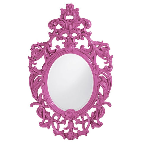 Howard Elliott 2146HP Dorsiere Hot Pink Mirror