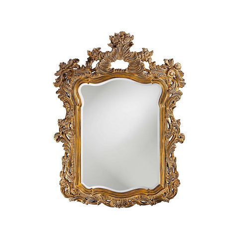 Howard Elliott 2147 Turner Antique Museum Gold Mirror w/ Whitewash Highlights
