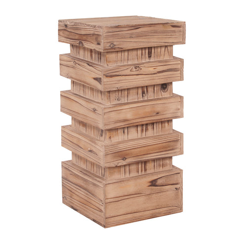 Howard Elliott 37129 Stepped Natural Wood Pedestal - Medium