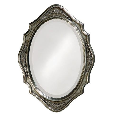 Howard Elliott 4053 Trafalga Virginia Silver Leaf Mirror