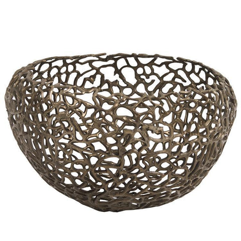 Howard Elliott Aluminum Bronze Nest Basket
