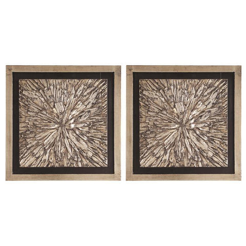 Howard Elliott Bark Textured Wall Art