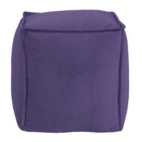 Howard Elliott Bella Eggplant Square Pouf